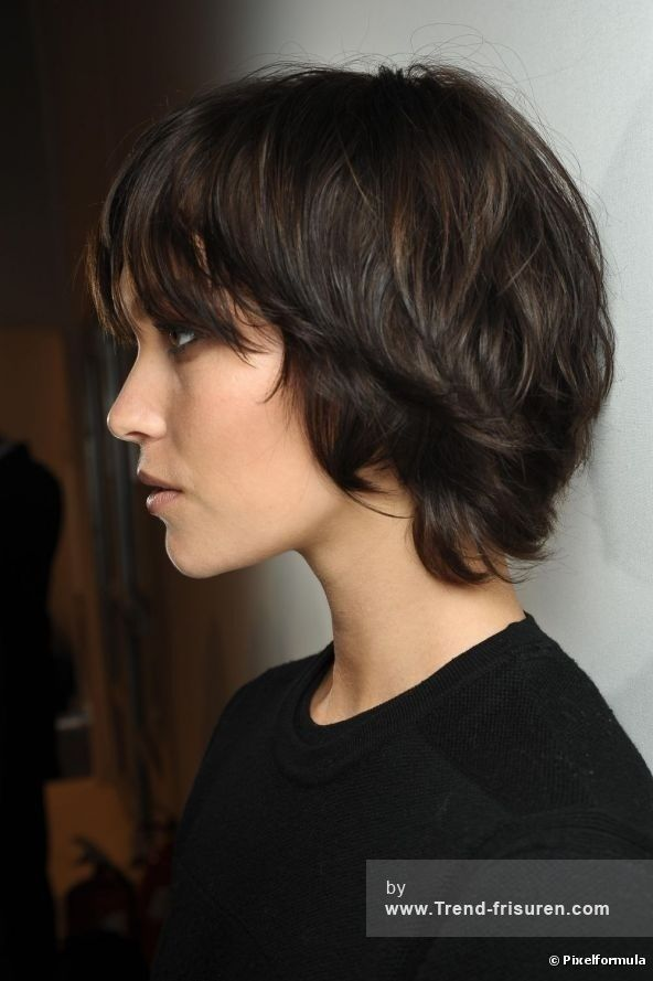 Bob Stufig FrisurSchwarz | Hair | Frisuren mittellanges haar ...