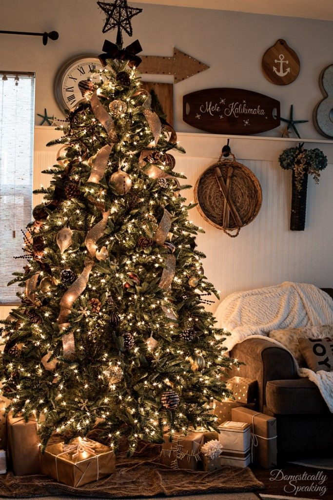 Rustic Luxe Christmas Tree 12 Bloggers of Christmas with ...